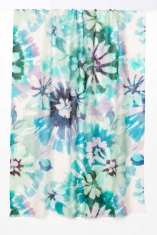 Watercolor Floral Print Scarf - Calypso - Kinross Cashmere