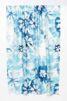 Watercolor Floral Print Scarf - Reef - Kinross Cashmere