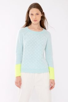 Plaited Color Play Pullover