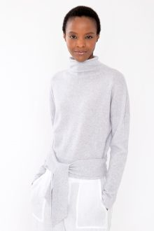 Tie Front Pullover - Kinross Cashmere
