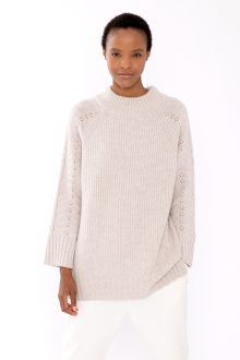 Luxe Cable Mock - KInross Cashmere