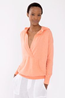 Hooded Pullover - Kinross Cashmere