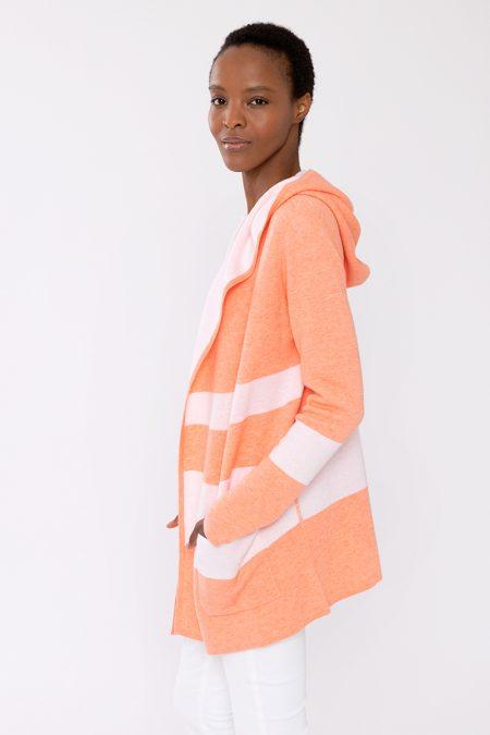 Reversible Stripe Hoodie- Kinross Cashmere