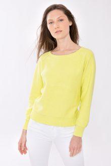 Gathered Sleeve Raglan Pullover - Kinross Cashmere