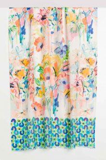 Santorini Floral Print Scarf - Kinross Cashmere