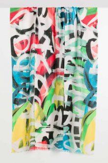 Graffiti Print Scarf - Kinross Cashmere