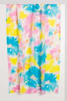 Aegean Floral Print Scarf - Kinross Cashmere