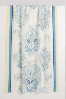 Paisley Print Scarf - Kinross Cashmere