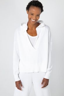 Crop Crossover Hoodie - Kinross Cashmere