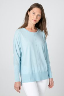 Easy Hi-Low Pullover - Kinross Cashmere