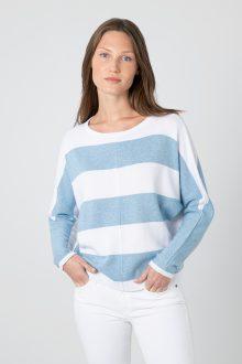 Bold Stripe Dolman - Kinross Cashmere