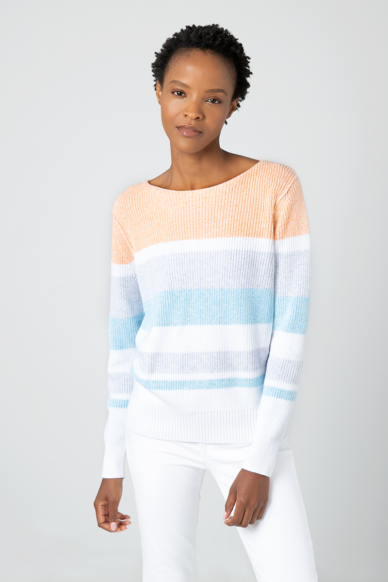 Textured Marl Pullover - Kinross Cashmere