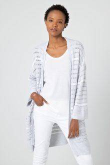 Texture Stripe Cardigan - Kinross Cashmere