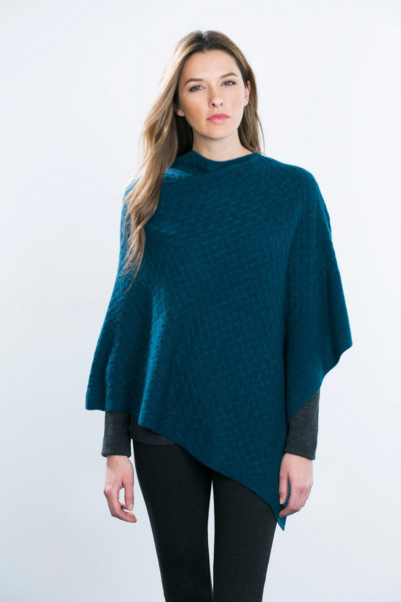 Kinross Cashmere | Lattice Cable Poncho
