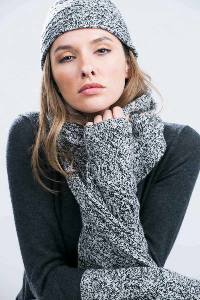 Kinross Cashmere | Marled Cable Hat