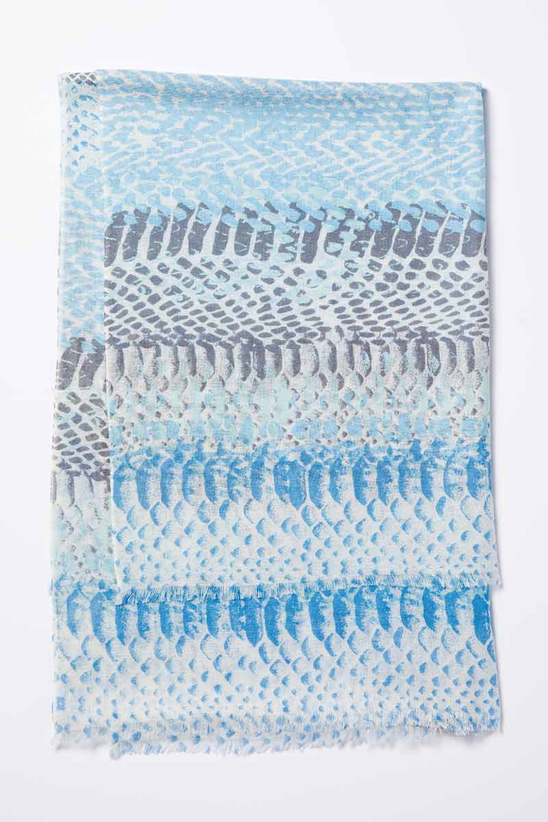 Kinross Cashmere   Resort 2015 Accessories   Surfsong Printed Scarf