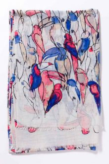 Kinross Cashmere | Spring 2016 | Toucan Print Scarf