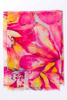 Kinross Cashmere | Spring 2016 | Painted Posie Print Scarf