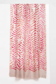 Tiger Stripe Print Scarf - Sienna - Kinross Cashmere