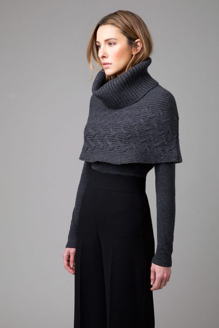 Cable Cowl Poncho - Kinross Cashmere