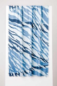 Tidal Print Scarf - Crystal Multi - Kinross Cashmere