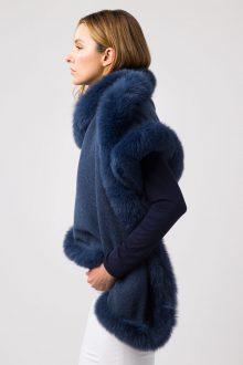 Fur Trim Wrap - Kinross Cashmere