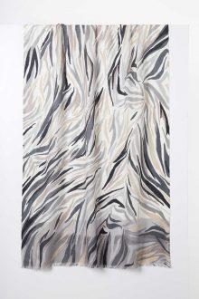 Desert Skin Print Scarf - Fossil - Kinross Cashmere