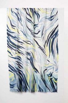 Desert Skin Print Scarf - Opal - Kinross Cashmere
