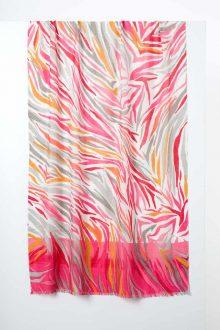 Desert Skin Print Scarf - Paradise - Kinross Cashmere