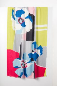 Pop Floral Print Scarf - Kinross Cashmere