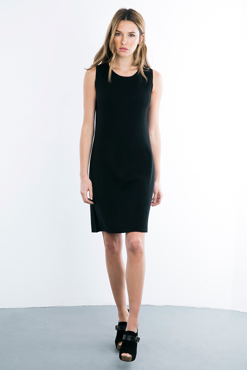 Kinross Cashmere | Double Knit Shift Dress