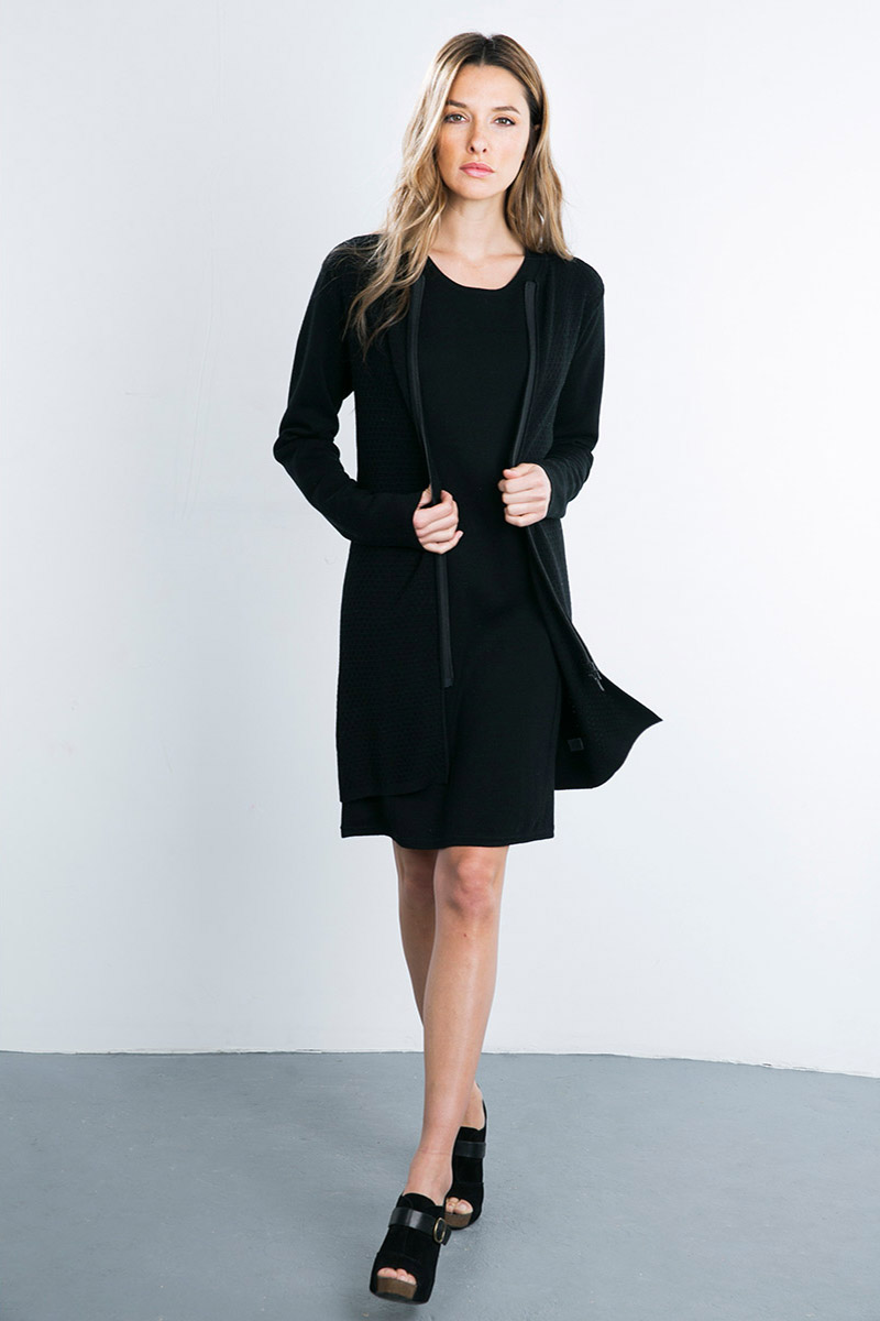 Kinross Cashmere | Double Knit Zip Duster