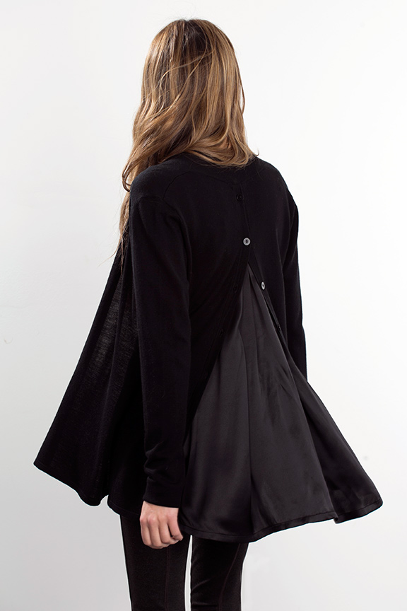 Kinross Cashmere | Mixed Media Drape Cardigan
