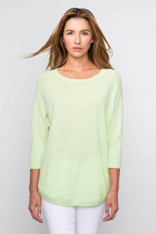 Kinross Cashmere | Spring 2016 | 3/4 Sleeve Rounded Hem Sweatshirt
