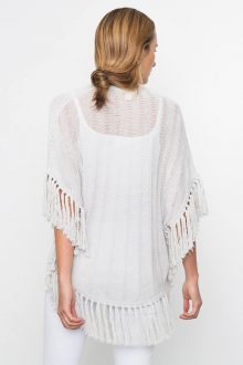 Kinross Cashmere   Spring 2016   Curved Poncho with Fringe