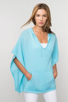 Kinross Cashmere   Spring 2016   Hooded Poncho