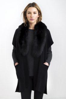 Fox Fur Oval Wrap Kinross Cashmere 100% Cashmere