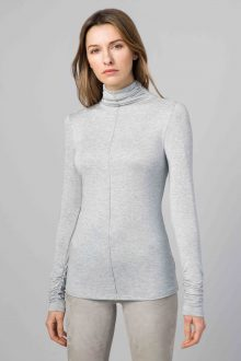 Ruched Turtleneck- Kinross Cashmere