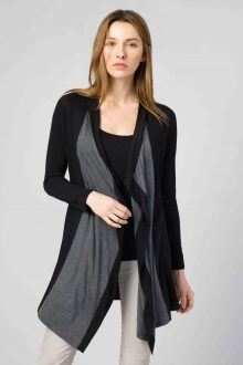 Color Block Cardigan - Kinross Cashmere