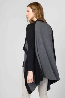 Color Block Cardigan Back- Kinross Cashmere