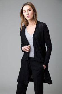 Thick and Thin Long Cardigan - Kinross Cashmere