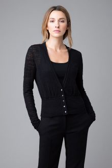 Thick and Thin Fitted Cardigan - Kinross Cashmere