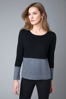 Worsted Colorblock Pullover - Kinross Cashmere