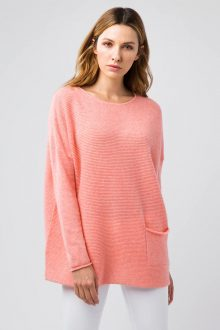 Textured One Pocket Pullover - Kinross Cashmere