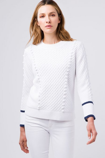 Tipped Bobble Crew - Kinross Cashmere