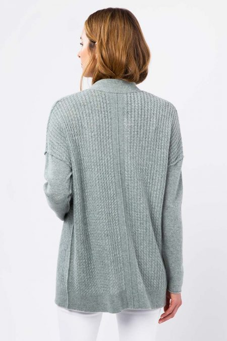 Micro Cable Cardigan - Kinross Cashmere
