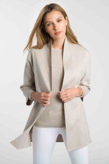 Bracelet Sleeve Coat - Kinross Cashmere