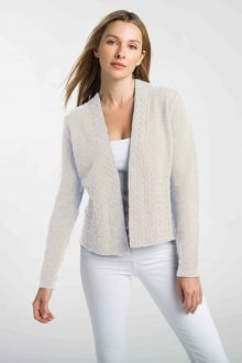Cable Bell Sleeve Cardigan - Kinross Cashmere