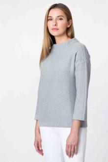 Textured Shoulder Funnel - Kinross Cashmere