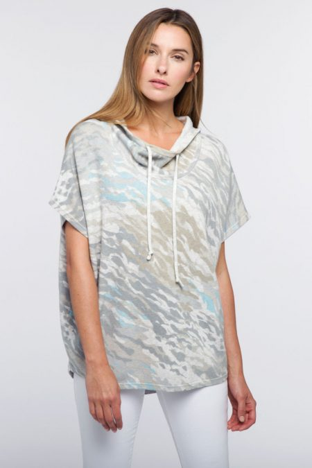 Surf Camo Pullover Hoodie - Kinross Cashmere